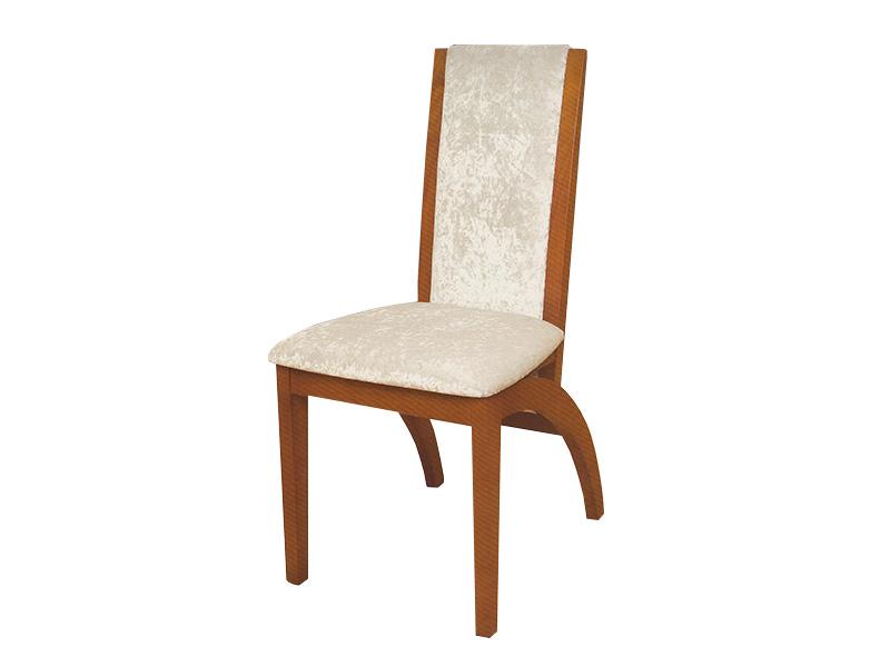 Cadeira Veludo pé curvo