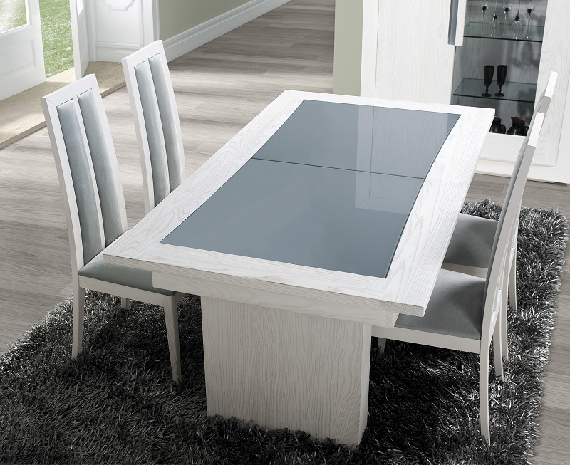 Mesa-de-sala-Elegance-tampo-vidro-pé-duplo