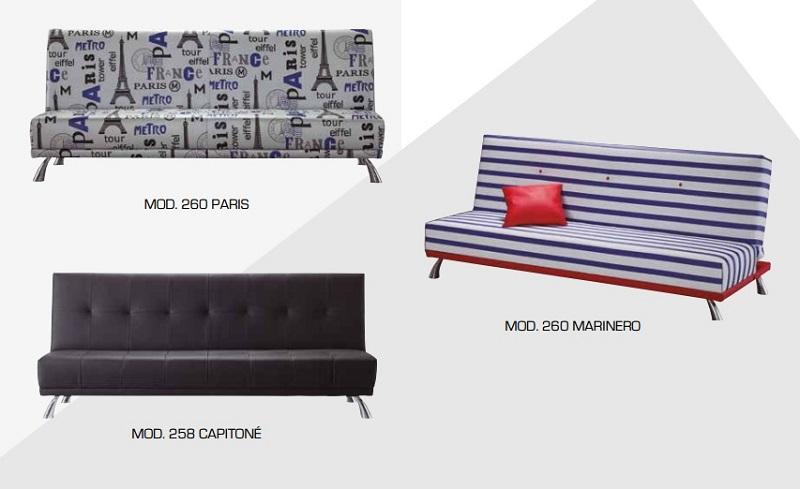 Sofá cama Click Clack modelos Carrasco