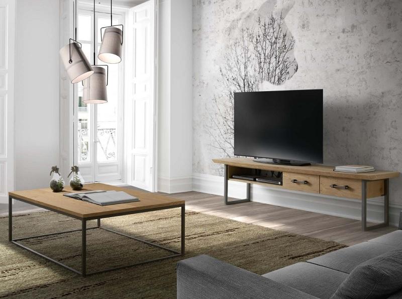Movel de-TV Artei e mesa de centro Rouge - CasaNovaGandia